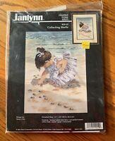 NEW Janlynn Collecting Shells girl beach counted cross stitch kit #29-19 NIP