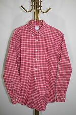 Brooks Brothers~NON-IRON~Red~PLAID~Button Down Casual Shirt~Men's Size M