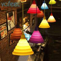 YGFEEL Lampe moderne Suspendue Colorée Modifiable en Silicone Ampoule E27