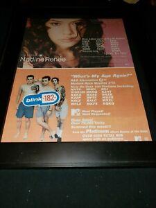 Blink 182/Nadine Renee Rare Original Radio Promo Poster Ad Framed!