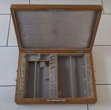 *RAR* Solider Besteckkasten Holz massiv Eiche? für ü.65 Teile Besteck 800 / 925