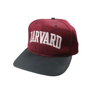 Vintage Harvard Adjustable Spellout Snapback Hat NWT Red