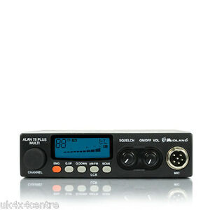 Midland Alan 78 Pro 80 Channel UK and Mid Band AM FM Multi Standard CB Radio