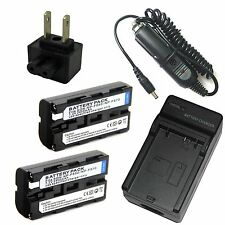 Charger +2x Battery for NP-F550 SONY CCD-TRV78 CCD-TRV88 CCD-TRV98 Hi8 Camcorder