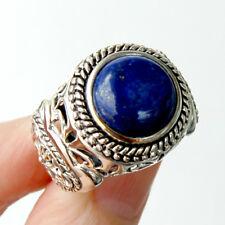 bh121  Bague Homme Chevalière Argent Massif 925 Lapis Lazuli T63