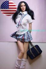 """1/6 School Girl Uniform Skirt Set For 12"""" PHICEN Hot Toys Female Figure USA"""