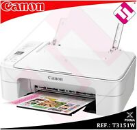 MULTIFUNCION IMPRESORA CANON TS3151 BLANCA WIFI A4 ESCANER (DISPONIBLES EN ROJAS