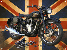CLASSIC BRITISH VELOCETTE MAC350 METAL SIGN.