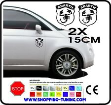 STICKERS DECORATION TUNING KIT 2 ADHESIF ECUSSON LOGO FIAT 500 ABARTH 15