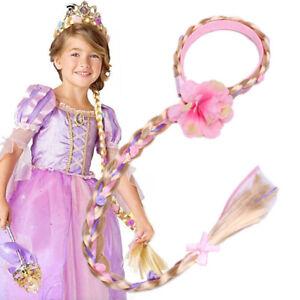 Rapunzel Princess Wig Headband Hair Plait Girls Kids Costume Accessory