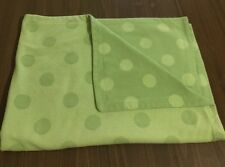 Amy Coe Green Polka Dot Baby Blanket Fleece Reversible Security Blanket