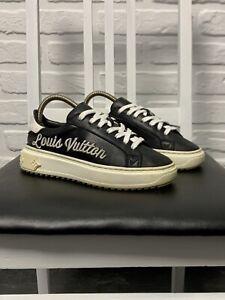 Louis Vuitton Time Out Women's Sneakers Big Logo Color Black Size 35/23cm Italy