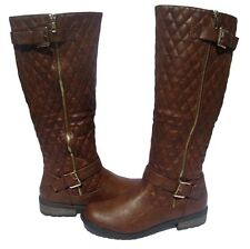 New Women's Boots Brown Ridding Knee High Shoes Winter Snow Ladies size 8
