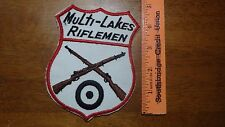MULTI LAKES RIFLE OAKLAND COUNTY MICHIGAN  OBSOLETE SHOULDER   PATCH BX K #21