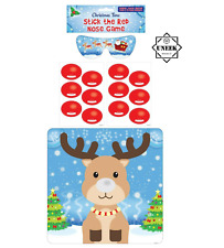 Pin The Nose On The Reindeer Game Family Fun Christmas Party Dinner Activity Uk