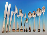 Round English by James Robinson Sterling Silver Flatware Set Dinner 179 pcs