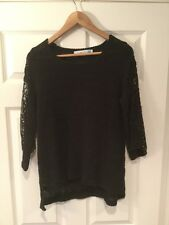 Sparrow Anthropologie Black Loose Knit Sweater, Size M