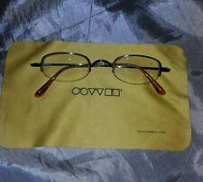 OLIVER PEOPLES occhiali vista ottone vintage eyeglasses lens cloth senza lenti