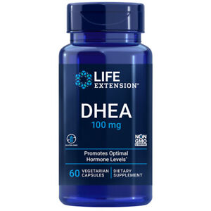Life Extension DHE-A 100mg 60 Veg Capsules