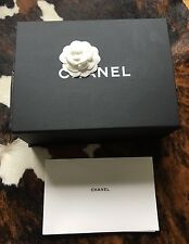 CHANEL Magnetic Black Box 4 CLASSIC FLAP or BOY Bag With Tissue Wraps & Brochure