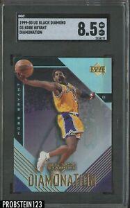 1999-00 UD Black Diamond Diamonation Kobe Bryant Lakers HOF SGC 8.5 NM-MT+
