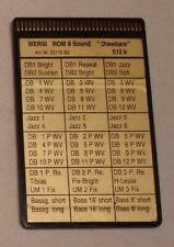 "Wersi Memory Card ROM 8  Sound ""Drawbars"" für CD Orgeln"