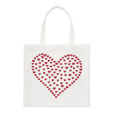 Corazón De Corazones Small Tote Bag-Love Rojo Día de San Valentín Shopper Hombro