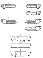 AUDI A3 Sportback 8PA Cubierta Del Motor Detener Parachoques Grommet 06A103226 Nuevo Original