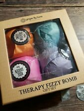 Ginger Lily Farms Therapy Fizzy 4pc Bath Bomb Gift Set New Ships Free