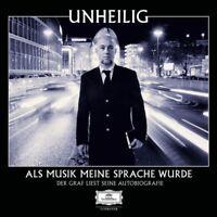 UNHEILIG-ALS MUSIK MEINE SPRACHE WURDE-AUTOBIOGRAFIE  5 CD HÖRBUCH NEU