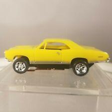 67 GTO Pontiac Yellow  MoDEL MoToRING HO scale slot car T-jet Custome Wheels