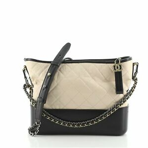 Chanel Bicolor Gabrielle Hobo Quilted Aged Calfskin Medium