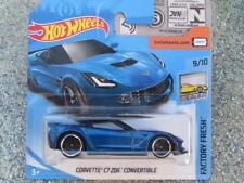 Hot Wheels 2018 #005/365 CORVETTE C7 Z06 CONVERTIBLE bleu neuf Fonte