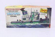 The Lindberg Line Grindel Harbor Tug Boat Kit Complete Rubber Band Powered