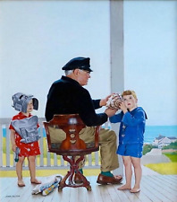 Summer by the Sea by John Philip Falter Gift,Office Art Decor Home Wall Hanging