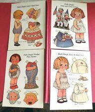 4 Dolly Dingle ~ Paper Doll Postcards Grace Drayton Vintage