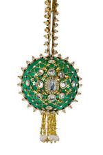 The Cracker Box  Inc Christmas Ornament Kit JOan Brooch on Emerald
