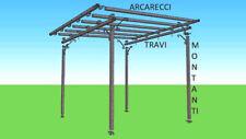 Pergola in ferro zincato o verniciato 3x3 m autoportante tettoia pergolato