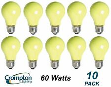 10 Pack YELLOW Coloured Party / Festoon Light Globes 60W E27 Screw A60