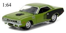 Greenlight 13180B 1971 Plymouth Barracuda Grass Green Diecast Car 1:64 NEW!!