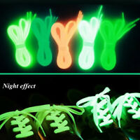 2PCS Luminous Shoelace Glow in the Dark Flat Shoe Laces Strings Running Acces