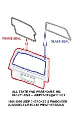 Rear Liftgate Frame & Glass Weatherstrip Seals for Jeep Cherokee Wagoneer XJ