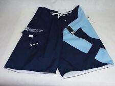 New Mens 28 DC Shoes Lanai Navy Light Blue Surf Swim Board Shorts $46