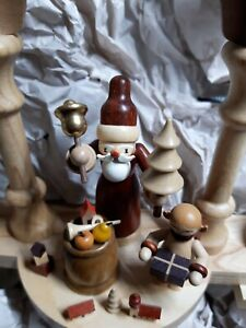 Small German Santa Arch with candle holders Christmas with box