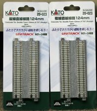 LOT of 2 - N Scale KATO UNITRACK 20-023 Straight Track 124mm 2 Pieces per Pack