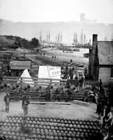 City Point view in 1864. Mathew Brady Collection (Army) 8X12 Photograph W&C