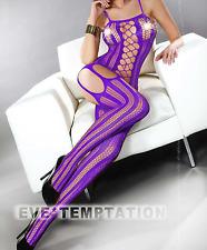 Lingerie Sexy Donna Regno Unito Calze Corpo Rete Body Pigiama con camicia da notte taglia 8-14