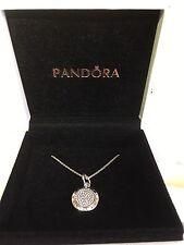 Genuine Pandora Silver Pave Signature Necklace 70cm  #390375CZ-70 RRP£90