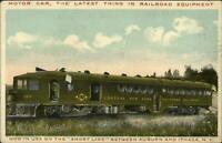 Elmira NY Union RR Train Station Depot 1911 Used Postcard