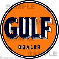 3 INCH GULF DEALER GASOLINE OIL DECAL STICKER